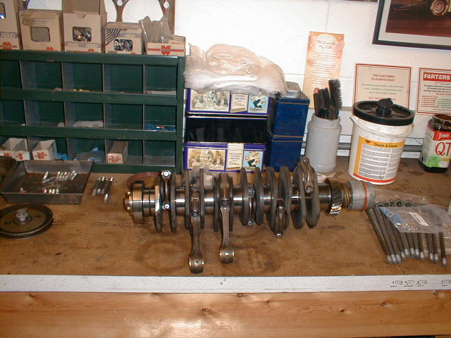 the 911's crankshaft and conrods